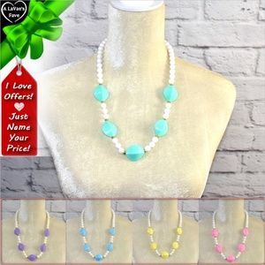 Jewelry - Pastel Color Beaded Necklace ~0cd40s0lb4